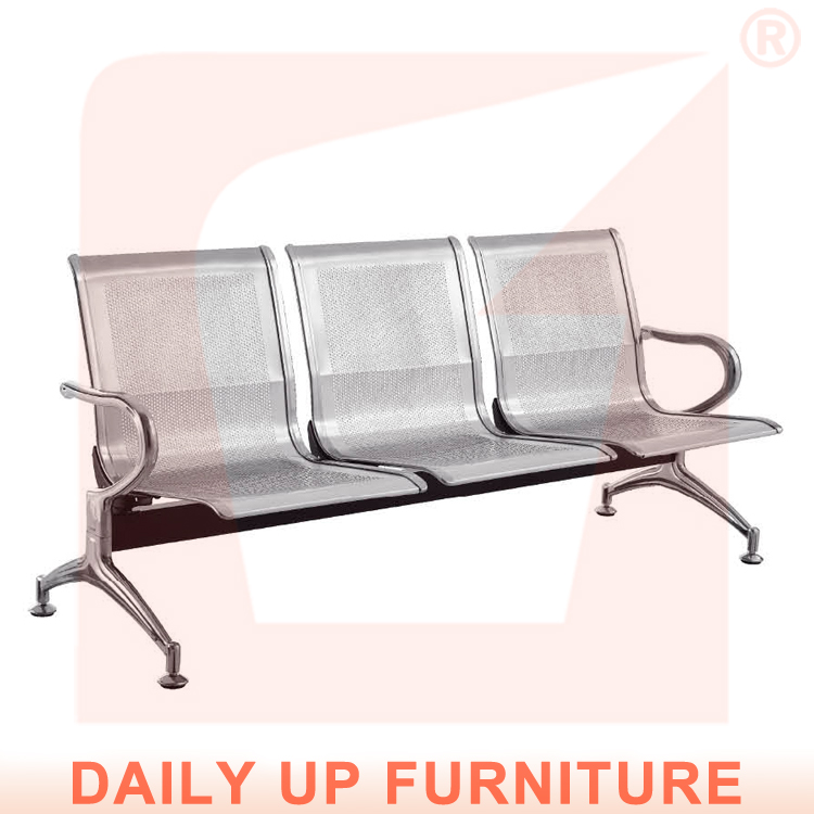 steel seating bench office conference chair hospital waiting chair