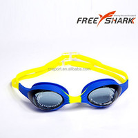 2015 Colorful silicone kids swimming goggles