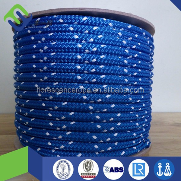 double braided polydacron multifilament diamond braided dock and recovery ropes with high breaking strength