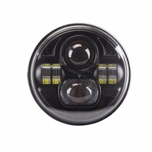 7'' 7 inch 73W round Jeep Wrangler Led Headlight , off road led driving light