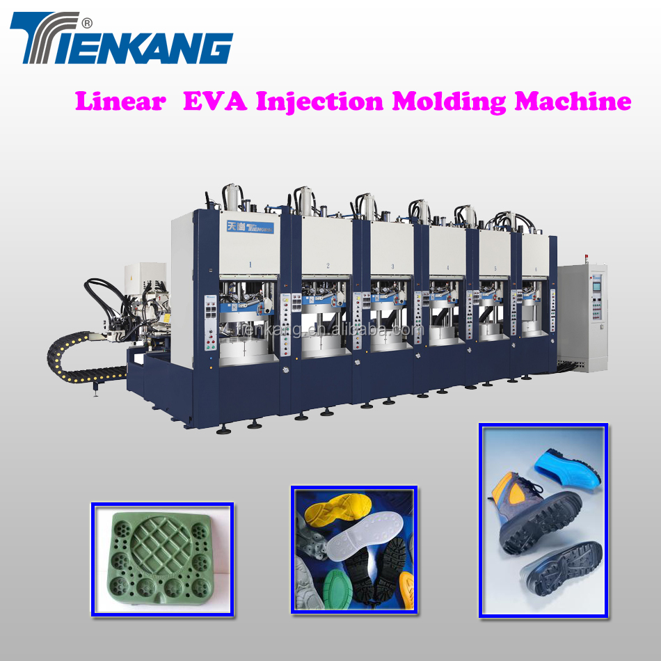 Linear EVA Injection Molding Machine (4 stations)