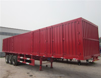 China Factory Dry Van Cargo Box Semi Trailer with Removable Door