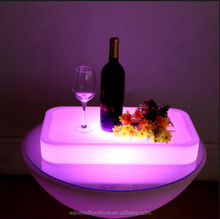 Hot selling lighting waterproof colorful led plastic bar tray nightclub LED bar serving tray