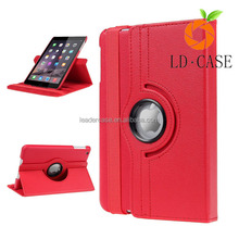 360 degree totate slim leather case for ipad air rotating case