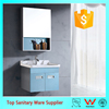 Wall mounted bathroom mirrored corner cabinet
