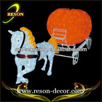 outdoor christmas house decoration led cinderella pumpkin carriage