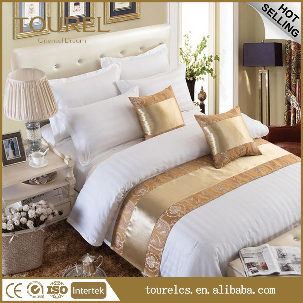 Hotel 4pcs Sheet Set Bedding Sheet Quilt Cover Pillowcase Latest Design Bed Runners for Hotel