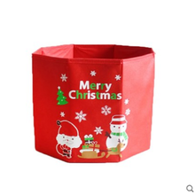 Foldable Canvas Linen Storage Christmas Ornament Box Fabric Organizer