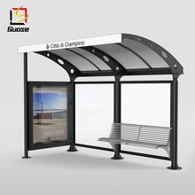 Prefabricated advertising bus shelter manufacturers metal shelter