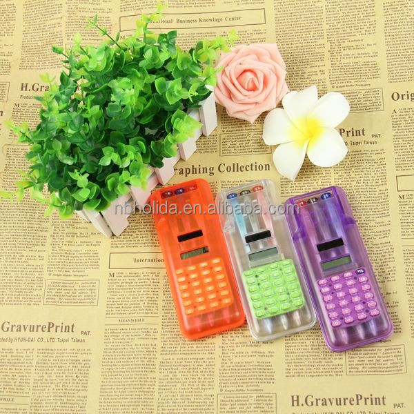 Gift calculator with 3 pieces ball-pens