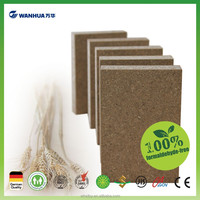 Waterproof straw based particleboard