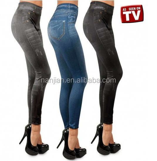 As Seen on TV printed jeans jegging seamless Genie sliming leggings