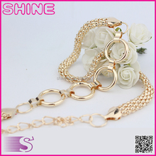 Wholesale Chain Belt Korean New Women Metal Belt Fashion Casual Crystal Rhinestone Decorate Chain Belt