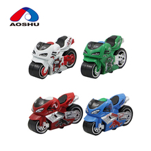 High simulation colorful mini pull back diecast toy motorcycle with cheap price