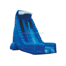 Top sale blue inflatable dry wave slide