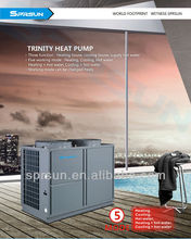 low energy input Ductless Heat Pump Air to Water (hot water for free) CE ,EN14511~ smart choise for your family