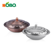 Elegant design copper stainless steel candy tray fruit tray with ss lid
