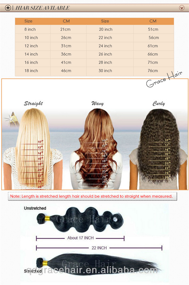 Grace curly best quality virgin brazilian human hair sew in weave