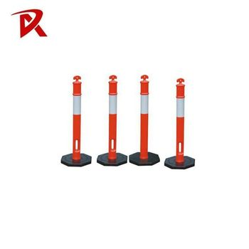 Safety EVA flexible sign post delineator post /T top flexible bollard