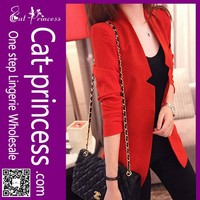 high quality hot red 2015 office lady formal blazer