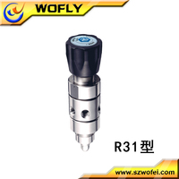 China factory two stage stainless steel gas pressure regulator with two gauges for propane