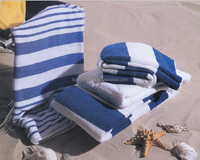 Plain Printed Stripe Cotton Beach Towel Soft Cotton Beach Towel