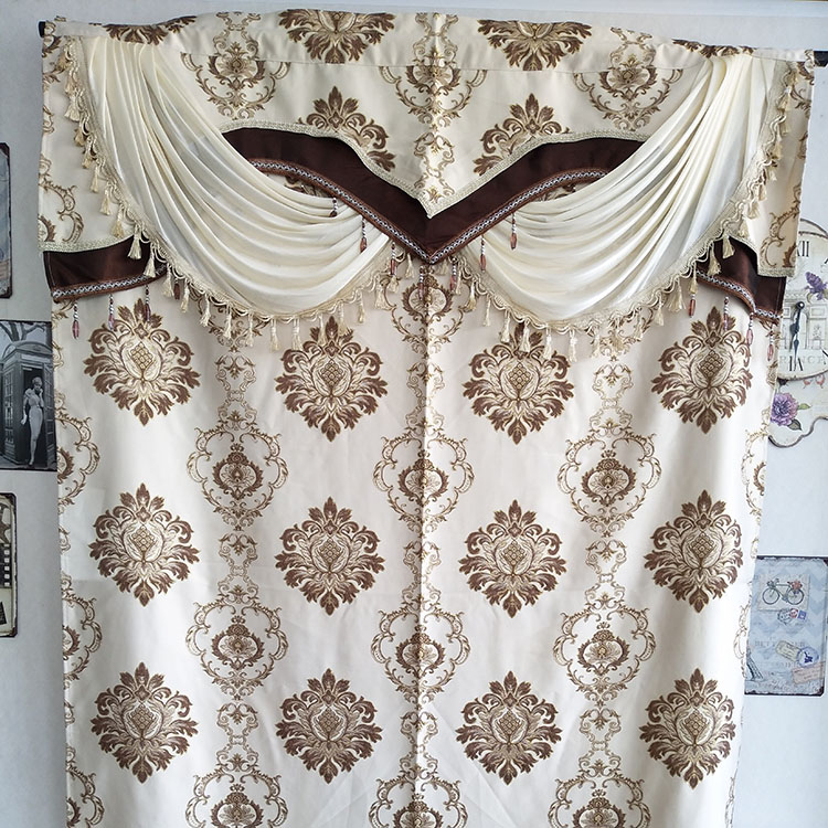 New latest design india style curtains with attached valance