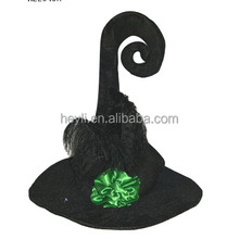 Best sexy used halloween costumes witch hats with black feathe rand flower