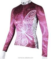 Women bike jersey Small MOQ cycling jacket windproof long sleeves cycling wear