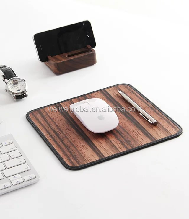 wooden mouse pads