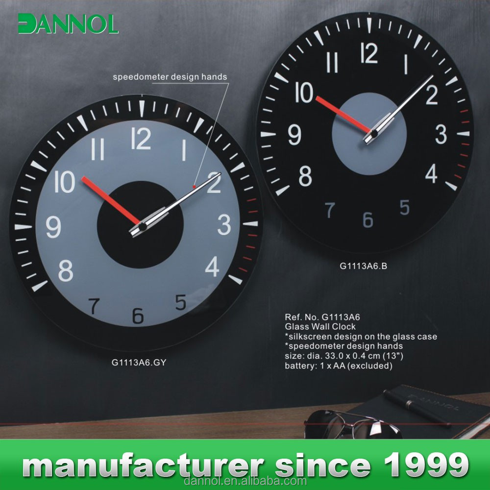 Analog Car Dashboard Clocks Design Glass Wall Clock Models For Sale