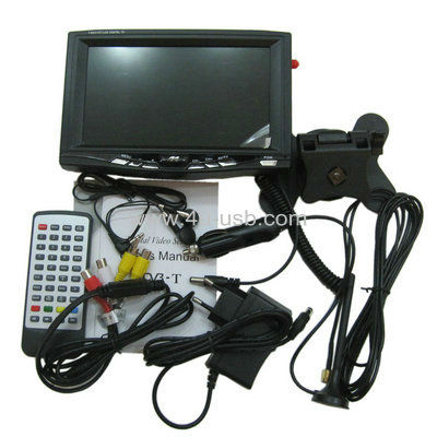 7 inch Portable DVB-T LCD TV/ Digital TV with DVB-T, Support USB flash disk