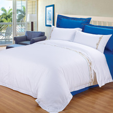 satin cotton with embroidered hotel quality duvet cover set