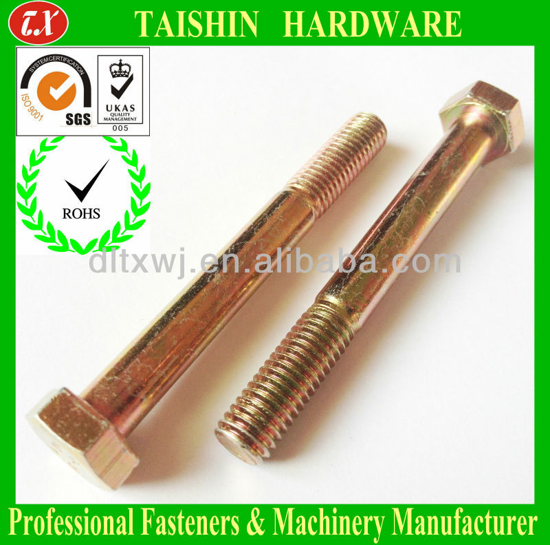 Grade 12.9 Metric DIN931/933 Hexagon / Hex Head Machine Bolts