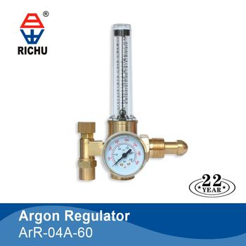 ArR-04A-60 Argon Regulator Present with Flow Meter