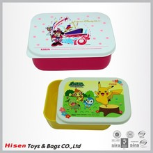 Cute cartoon pattern printed lunch box carrying case for kids