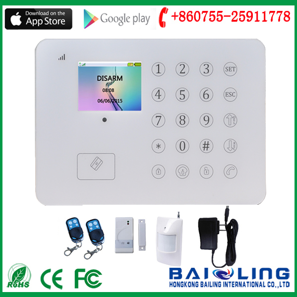 Power Saving RFID Card alarm system full Touch Panel security alarm system GSM +PSTN home Burglar Alarm System