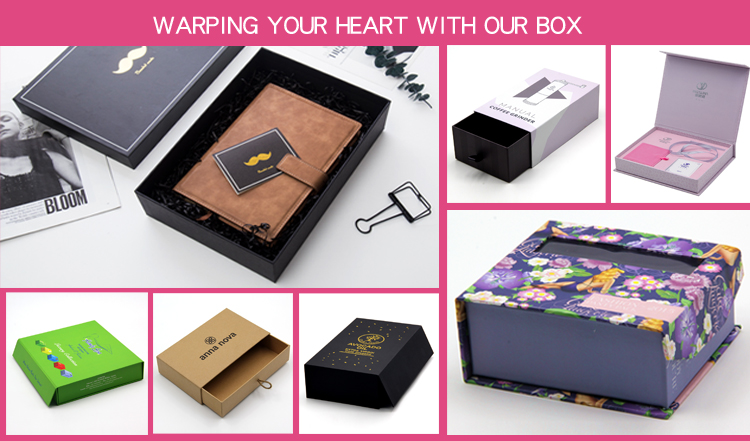 custom printing luxury jewellery packaging leather necklace gift box