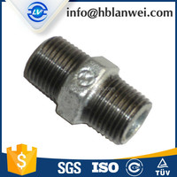 Shijiazhuang nipple Malleable Iron Pipe Fittings Nipple M.I.Fittings for SAU market