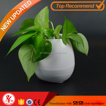 Bluetooth speaker smart flower pot , garden music flower pot for Office and Home