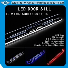 New Products Led Moving Door Scuff Plate Car Door Sill Pedal Led Ligh for audi a3