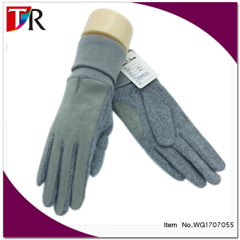 High Quality Men And Women Screen Touch 100% Cashmere Wool Gloves Mittens