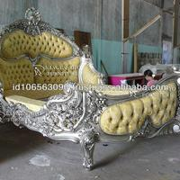 Elegant Furniture Wood Royal Bed With