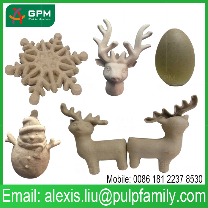 merry christmas party decorations paper pulp handicraft products