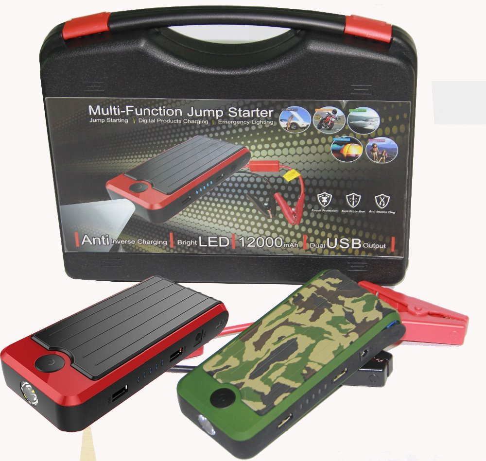 Car Emergency Power bank, Battery Charger 12000mAh Mini Jump Starter ,12v Car Jump Starter Power Bank For Car Jump Start