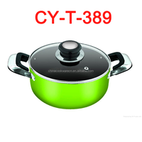 stylish apperance light color non-stick cooking pot ware