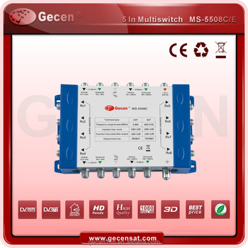 Gecen 2017 Cascadable Satellite DiSEqC 2.0 Multiswitch of 5 in 8 MS-5508C