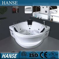 HS-B288 jet whirlpool bathtub with seat/ bathtub for 3/ corner whirlpool