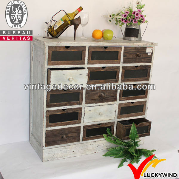 Antique look very distressed rough wood furniture