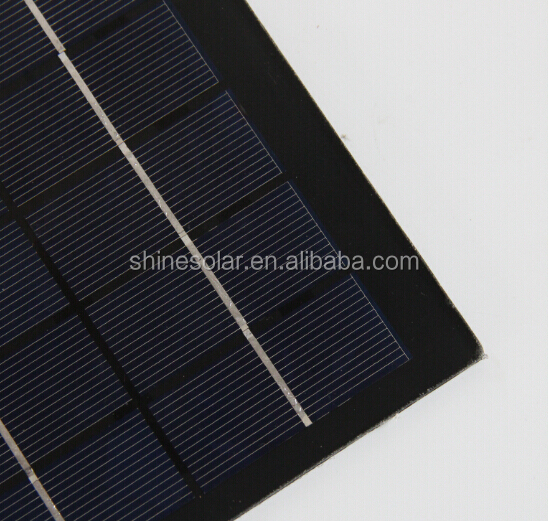 Epoxy resin/PET laminted 6V 2.5W mini solar panel